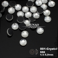 Ss6 Crystal Clear Color DMC Hotfix Flat Back Glass Rhinestone Iron On Transfer Design Strass Crystal