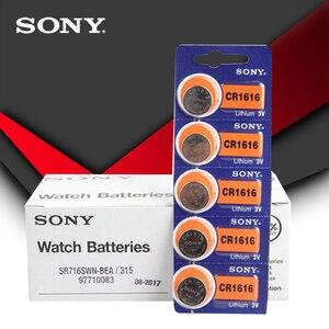 5 шт./лот Sony 100% оригинальный CR1616 кнопочный Аккумулятор для часов Автомобильный Дистанционный ключ cr 1616 ECR1616 GPCR1616 3v литиевая батарея