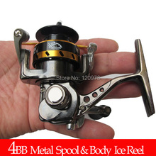 XF150-4BB Full Metal Ice Fishing Reel Spinning Reel Lure Rock Reel Portable Mini Smaller Baby Reels Fishing Tackles