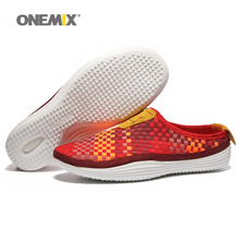 Woman Running Shoes for Women Weaving Run Athletic Trainers Breathable Orange Zapatillas Sports Shoe Loafers Walking Sneakers