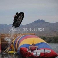 Free Shipping 7*3m Inflatable Water Jumping Pillow Inflatable Water Trampoline Air Water Blob Jumping Bag(Free Pump+Repair Kits)