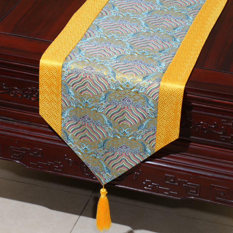 Seawater Natural Mulberry Silk Table Runner kinesisk tebord klud - Hjem tekstil