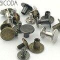 SICODA 4/20 piezas de tornillo de aleación de para cinturón de cuero bricolaje tornillo cinturón tornillo de cabeza equipaje bolsa de accesorios tornillo de adornos