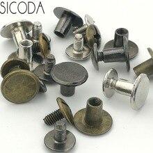 SICODA 4/20 sztuk śruba ze stopu dla skórzany pas diy krzyż śruby głowica pasa śruba akcesoria bagażowe torba śruba ozdoby odzieży