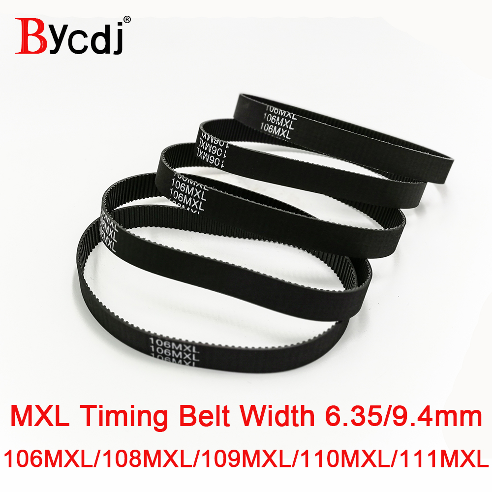 MXL courroie B132 B135 B136 B138B139 Dents Largeur 6.4/9.4mm 2.032mm courroie Synchrone 106MXL 108MXL 109MXL 110MXL111MXL