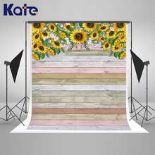 Kate 200x300cm Sunflower Colored Wood Plank Photography Backdrop Baby Shower Background