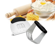2 Herramientas de Los Pasteles, Acero inoxidable Cortapastas Rascador pastelería y Chopper Cocción Profesional Batidora de Masa