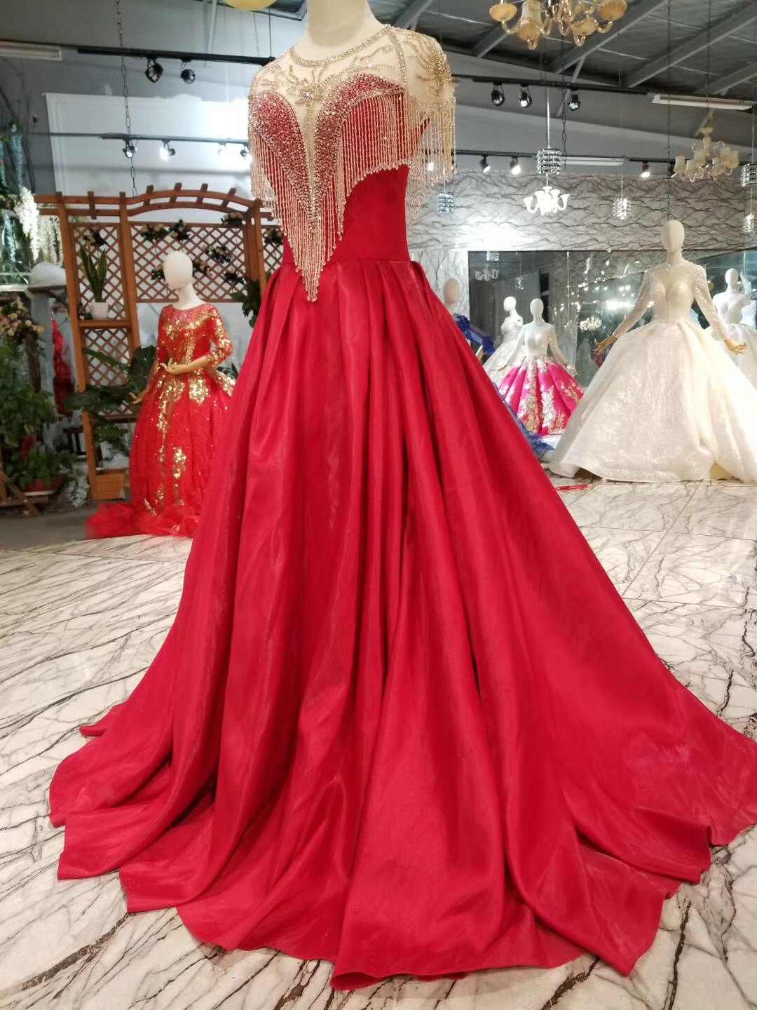 b2e5a23271 Simple Aqua Quinceanera Dresses Telass Crystals Beads Prom Dresses For 15  16 17 Years Red Satin Party Gown