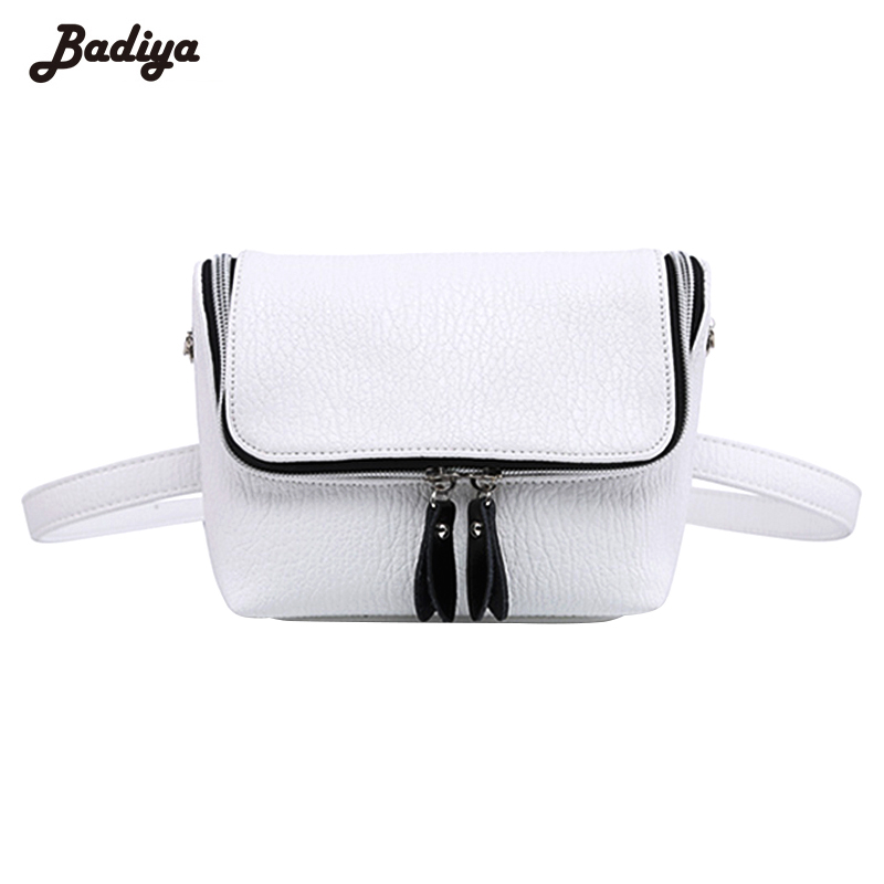 Lady PU Leather Waist Bag Causal Belt Bag Waterproof Shoulder Bag Lichee Pattern Crossbody Bag Silver все цены