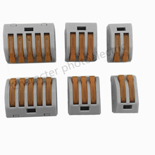 10PCS Spring Lever Push Fit Reuseable Cable Cage Clamp 2/ 3 /5 wire easy connect cable terminal block new original 1794 tb3 plc cage clamp terminal base