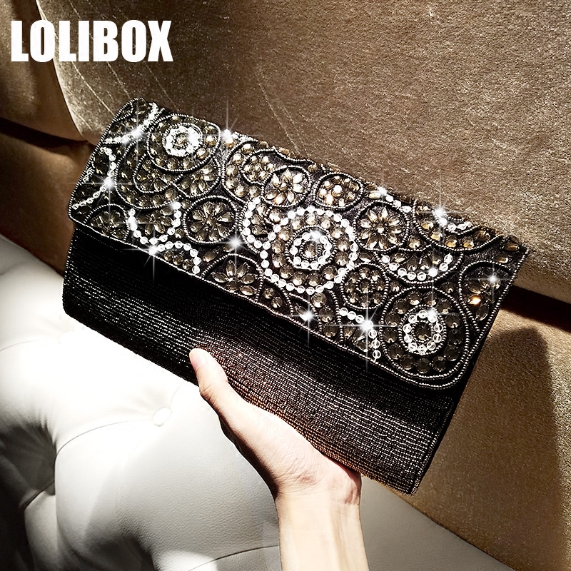 LOLIBOX New Women Beaded Satin Sequins Diamond Evening Clutch Bags Envelopes Day Clutches Bridal Wedding Dresses Clutch Purse mz15 mz17 mz20 mz30 mz35 mz40 mz45 mz50 mz60 mz70 one way clutches sprag bearings overrunning clutch cam clutch reducers clutch