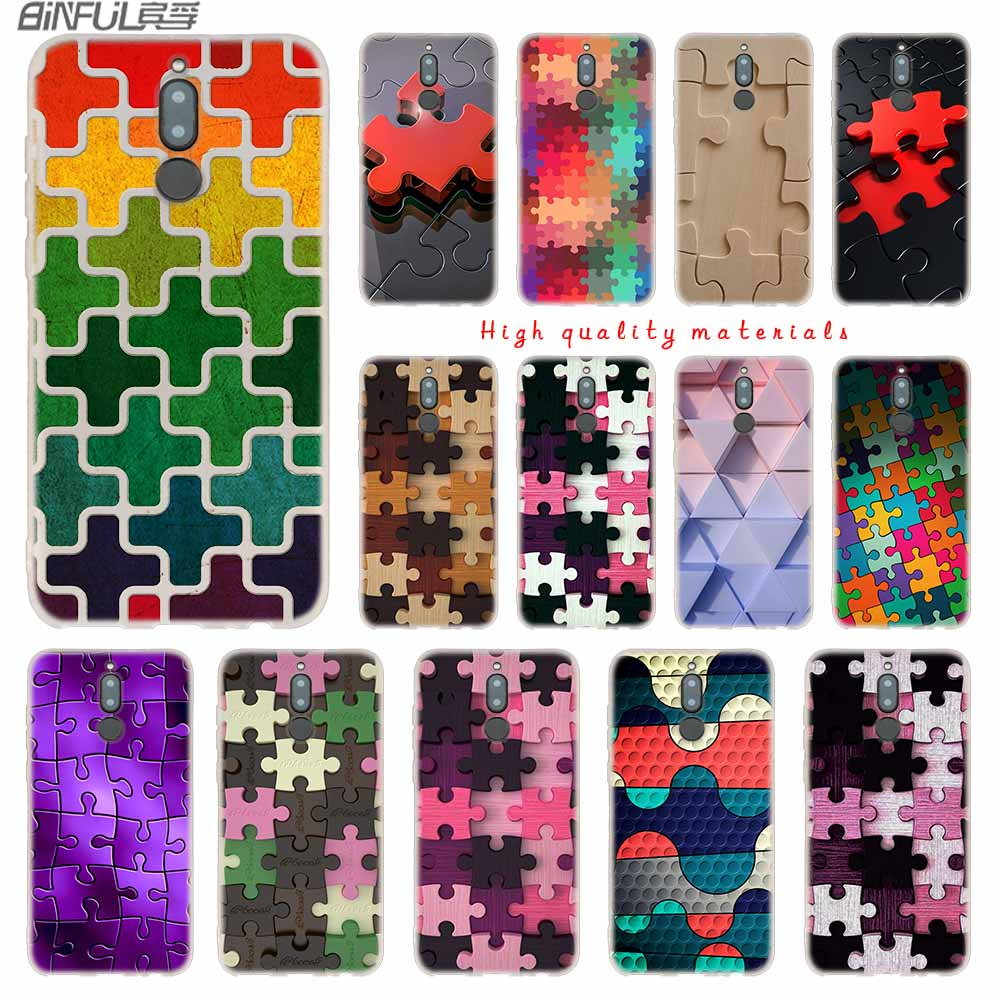 Fitted Cases Soft Silicone Case For Huawei Mate 10 Lite 10 20 Lite Pro 20x S Y5 2017 Y9 2018 2019 Nova 3 3i 4 Y7 Puzzle Art