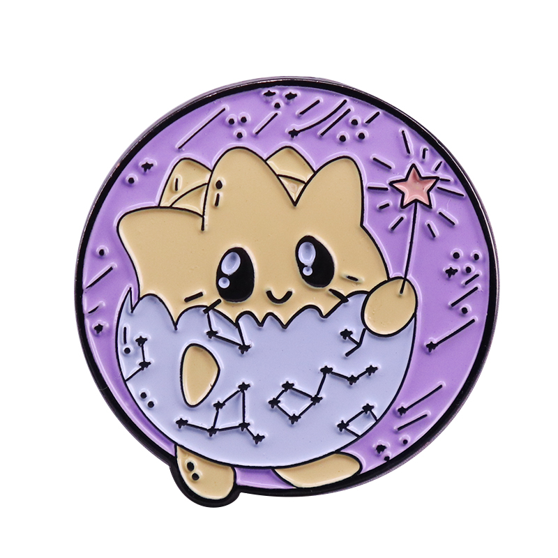 Cute Togepi lapel pin toss a coin and make a wish collection shiny Pokemon flair addition image