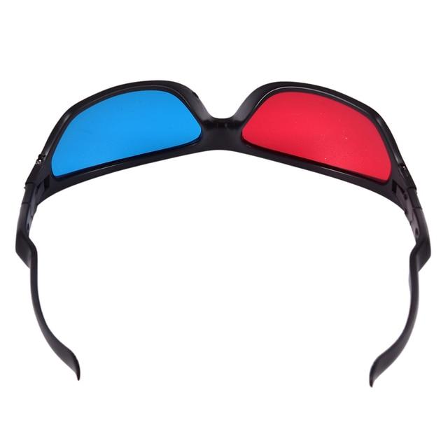 5 pièces/ensemble cadre rouge bleu 3D lunettes pour dimensionnel anaglyphe film jeu DVD noir