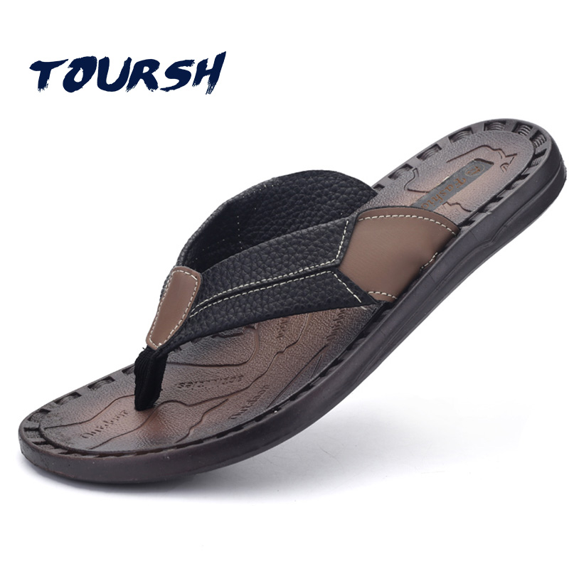 TOURSH Flip Flops Men Sandals Summer Walking Cool Beach ...