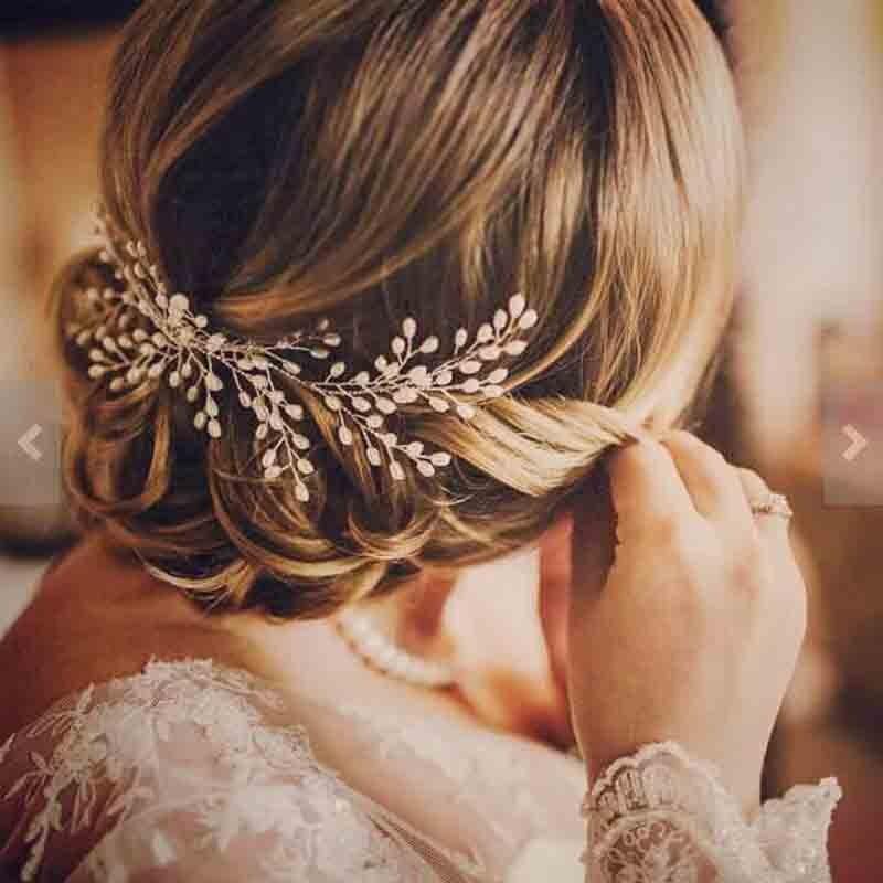 2018 Nouveau Luxueux Accessoires De Cheveux De Mariée 100% Fait Main Perle De Mariage Bijoux De Cheveux Partie Pom De Mariée Étoilé Cheveux Peigne Perle Tiara