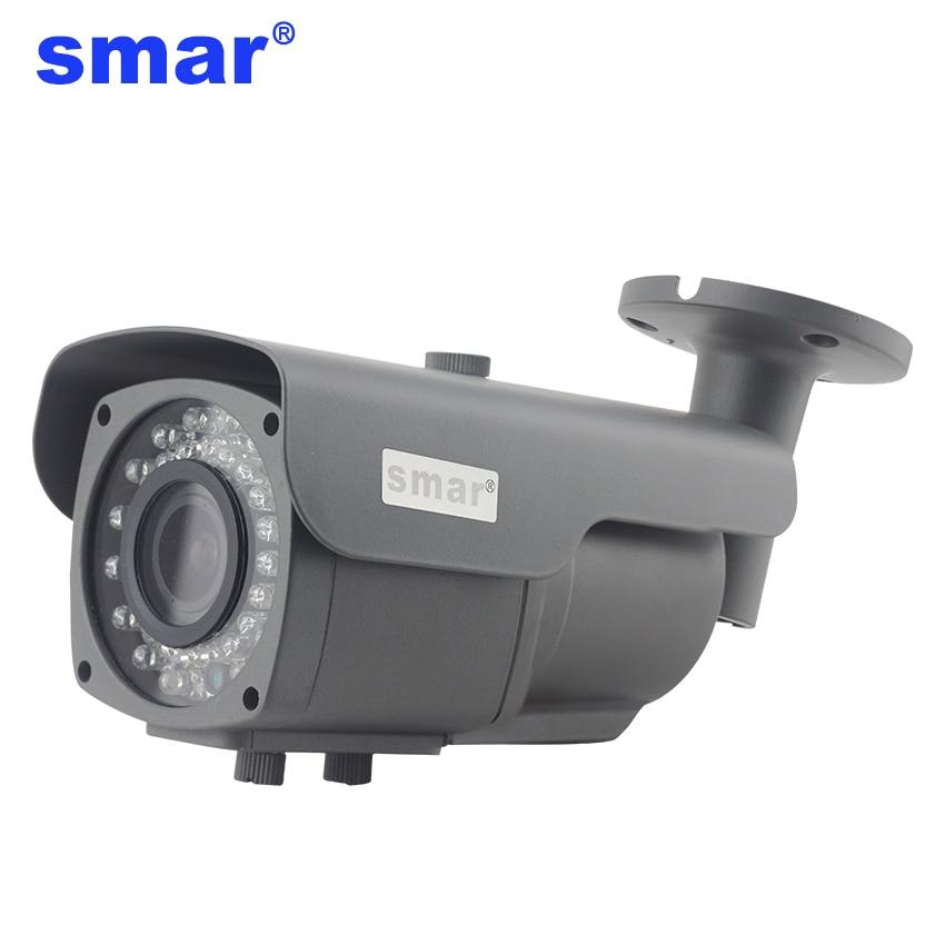 Smar 4X Zoom 720P 1080P AHD Câmera Ao Ar Livre 2.8-12mm Manual Focus Lens HD Câmera Da Bala night Vision Câmera de Vigilância de Segurança