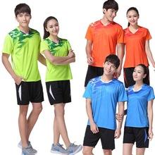 2018 kobiet mężczyzn Badminton koszulki Krótki rękaw odzieży sportowej Uniform tenis stołowy (może t-shirt + krótki zakup) pingpong koszulki koszulki tanie tanio Unisex Pasuje do rozmiaru Weź swój normalny rozmiar SR40 Voleyball Tennis Table Tennis Badminton Running Jogging Execrise