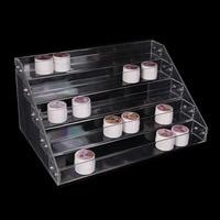 5 Tiers Nail Polish Rack Acrylic Makeup box Lipstick Jewelry Display Stand Holder Nail Polish Clear Display Cosmetic Organizer