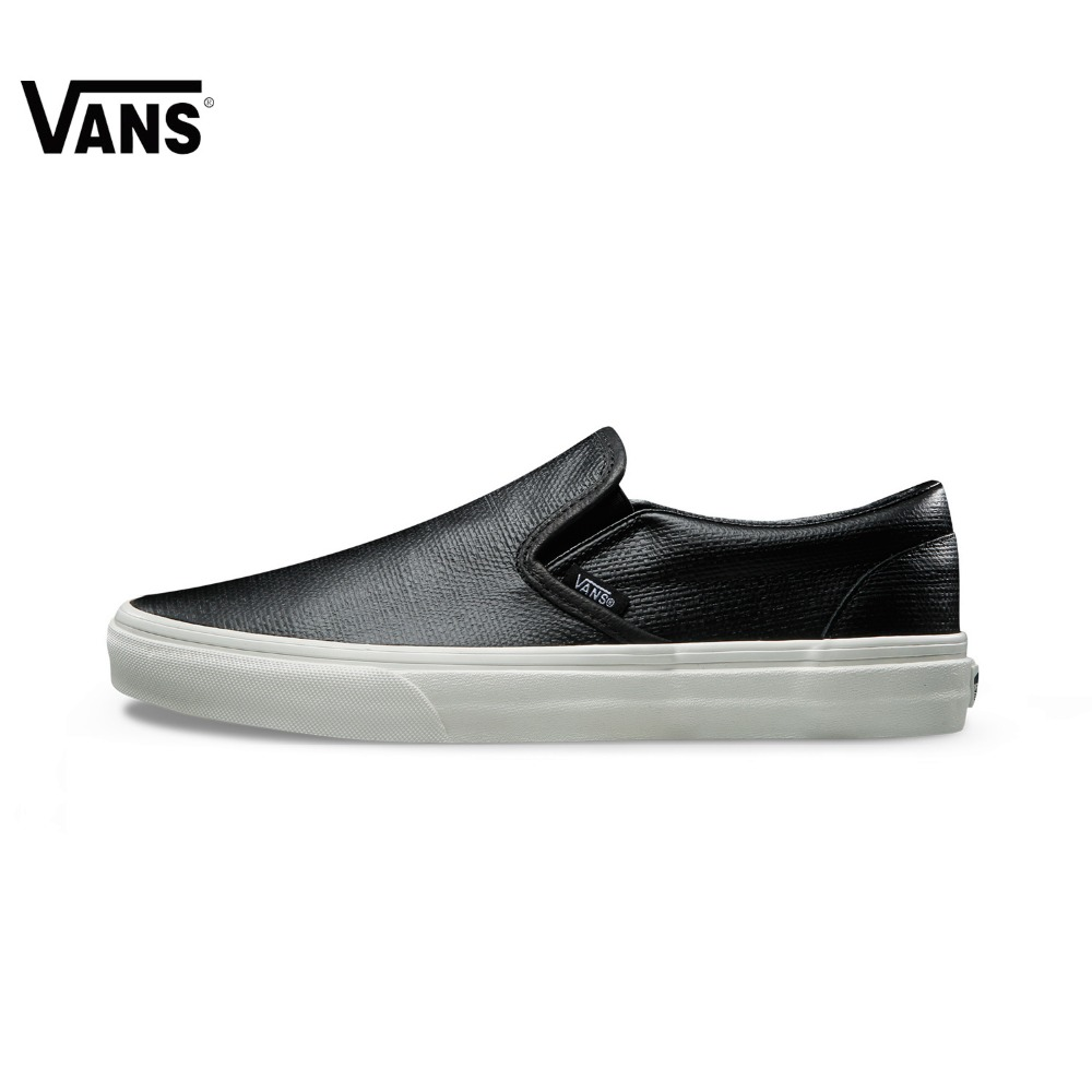 Original Vans Unisex Summer Black Skateboarding Shoes Slip-On Sneakers glowing sneakers usb charging shoes lights up colorful led kids luminous sneakers glowing sneakers black led shoes for boys