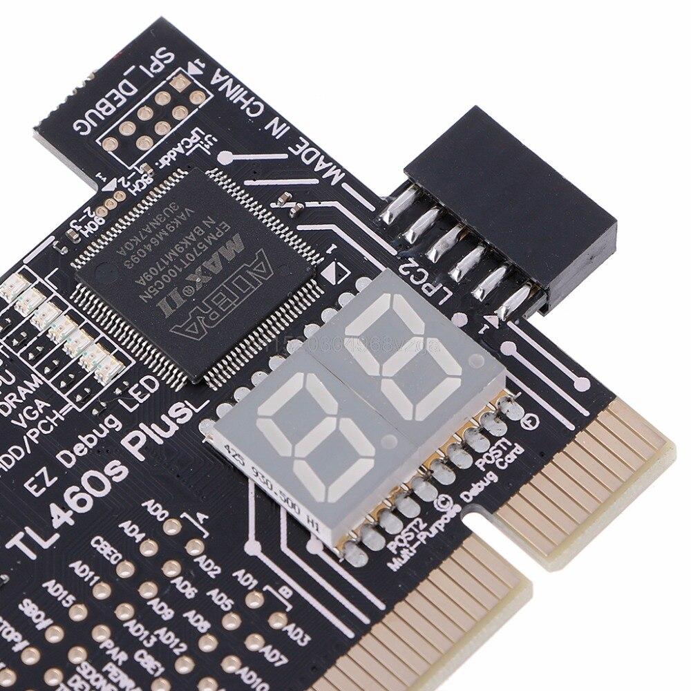 US $17 06 24% OFF|Analyzer Diagnostic LPC DEBUG Card PCI PCI E LPC Debug  Post Test Kit Motherboard Diagnostic Card J04 dropshipping-in Instrument
