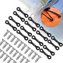 30pcs/Set C-Shaped Boat kayak Nylon Bungee Tie Down Pad Eye With 60 Screws for Boat Loops Deck Rigging Kit Boat Kayak Accessory(China)