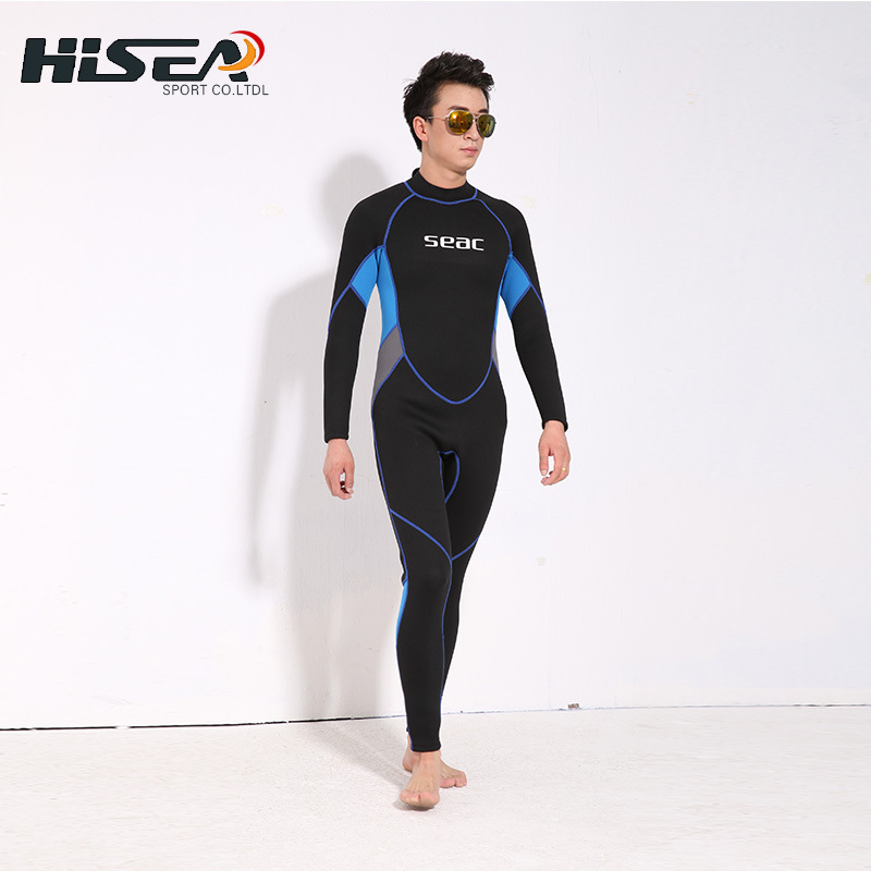 Neoprene 3MM Scuba dive Wet suit men Wetsuit Equipment Snorkeling Jumpsuit One piece long sleeved Triathlon Spearfishing Surf spearfishing wetsuit 3mm neoprene scuba diving suit snorkeling suit triathlon waterproof keep warm anti uv fishing surf wetsuits