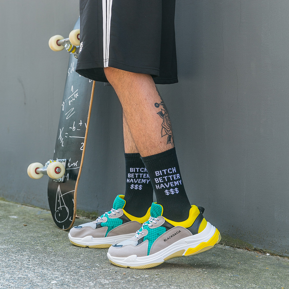 Young Cool Hip Hop Debt Collection Awesome Street Fashion Socks Combed Cotton Sweat amp Deodor Rock amp Roll Unisex Autumn Winter Socks in Men 39 s Socks from Underwear amp Sleepwears