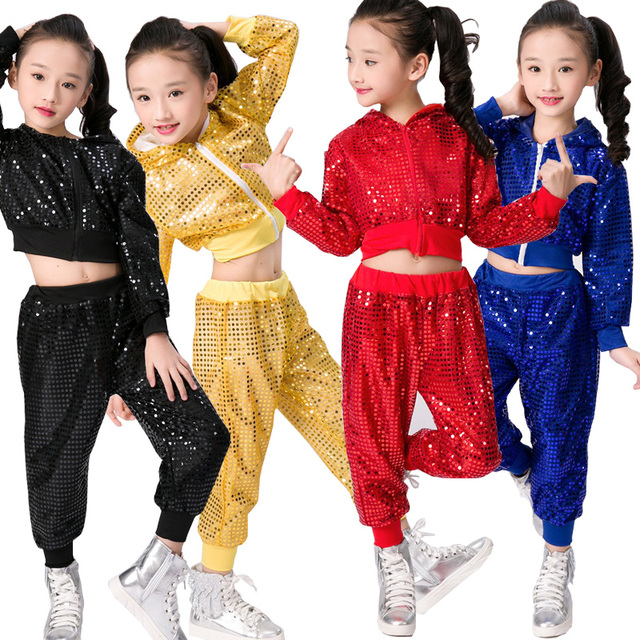 e9207989e Kids Hip Hop dancewear costumes Girls Boys Modern Jazz dancing ...