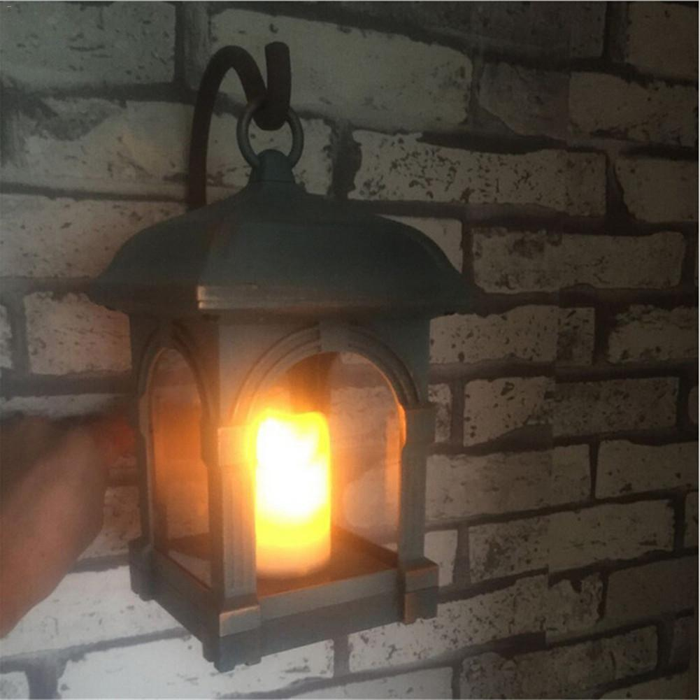 Solar Powered Courtyard Candle Light LED Solar Powered Wall Lamp Umbrella Lantern Candle Lights Outdoor Home Garden Porch indoor флип кейс ecostyle shell для lenovo s650 черный page 2