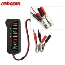 2021 Mini 12V araba pil test cihazı dijital alternatör test cihazı 6 LED ışıkları ekran araç teşhis aracı otomatik pil test cihazı araba için