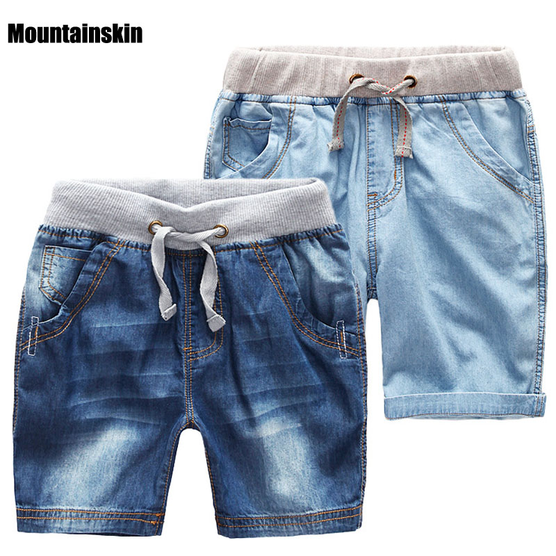 2018 Boys Summer Denim Shorts Brand Fashion Jeans Big Boys Shorts 1-14Y Children's Beach Shorts Casual Boys Boardshorts SC788 destroyed raw hem denim shorts