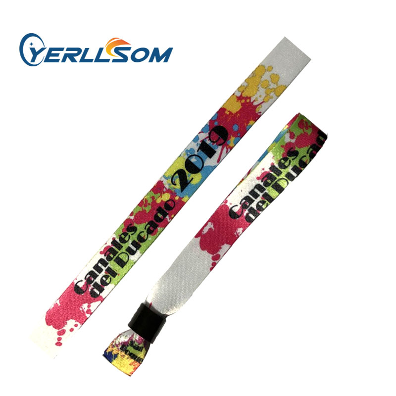 YERLLSOM 600PCS Lot High Quality Customized 20 350mm printed cloth fabric wristbands for events F19040901