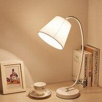 Modern LED Table Desk Lamp for the Bedroom Living Room Schoolchildren Black White Lamps Design Bedside Table Night Light Fixture