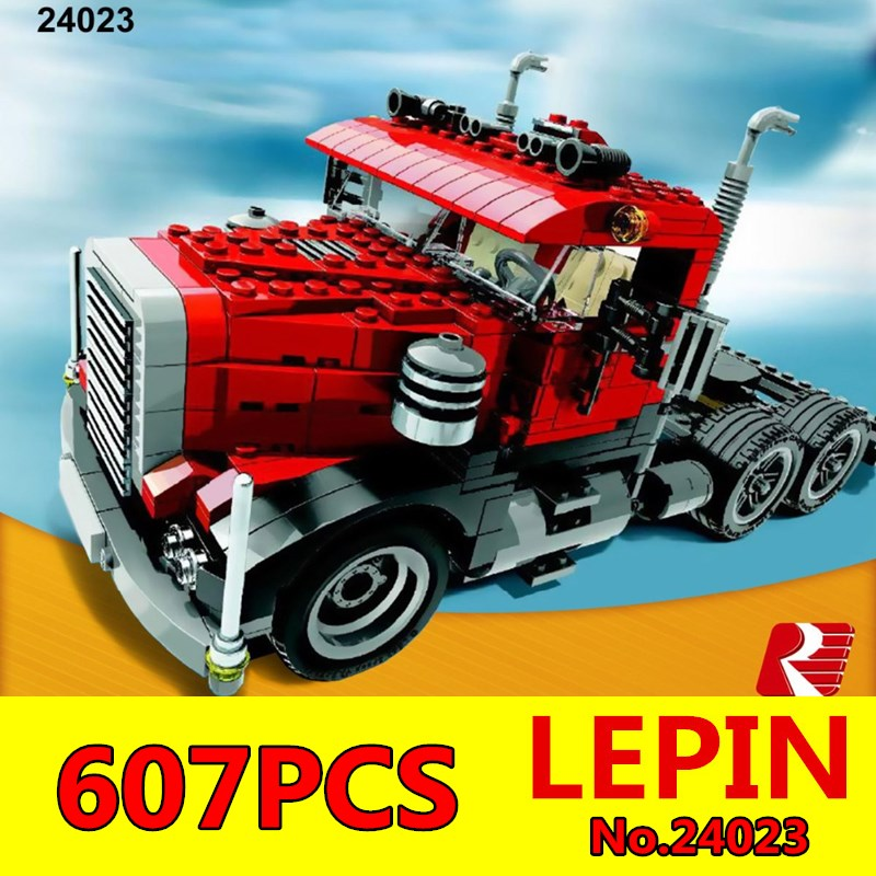 LEPIN 24023 Creative Changing Series The Three in One Truck Set Educational Building Blocks Bricks Toys Model Children Gift 4955 in stock lepin 02012 774pcs city series deepwater exploration vessel children educational building blocks bricks toys model gift