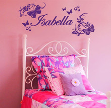 Custom personalized name Butterfly PVC material vinyl wall stickers home decor living room mural decals Y-81