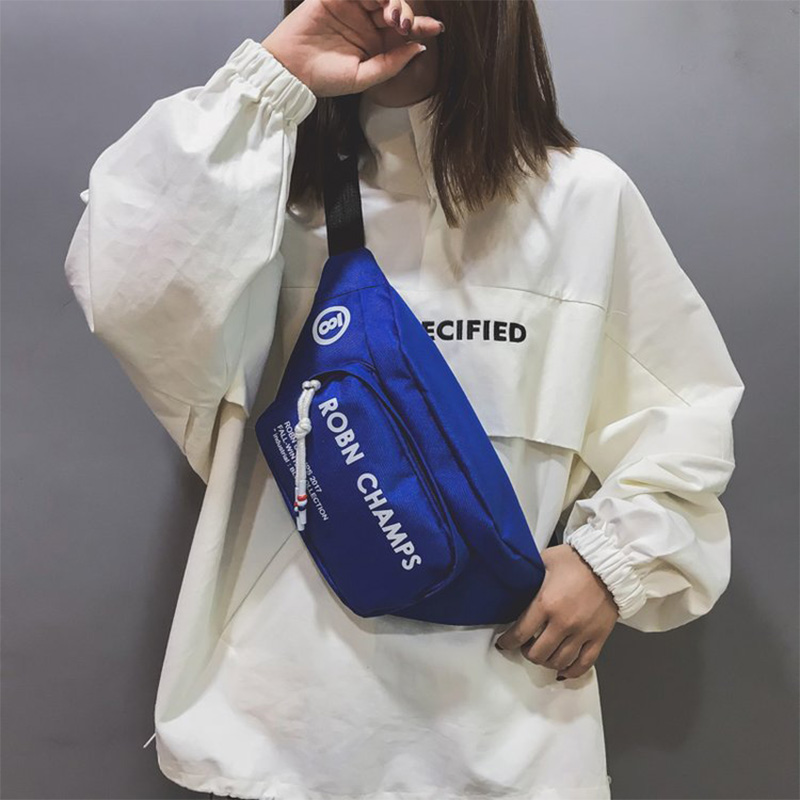 Hip Hop Waist Bag Fanny Pack Women Belt Bag Chest Packs Trend Canvas Banana Bag Bum Package Street Style Shoulder Messenger Pack
