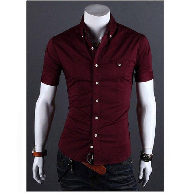 Aliexpress.com : Buy Men Shirt Luxury Brand 2017 Male Short Sleeve ...