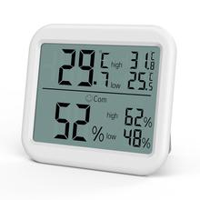 ORIA Mini Digital Hygrometer Thermometer Temperature Humidity Monitor Gauge Meter Home Office Bedroom Kitchen