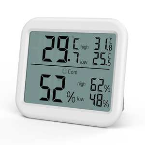 ORIA Mini Digital Hygrometer Thermometer Thermometer Temperature Humidity Monitor Gauge Meter Home Office Bedroom Kitchen