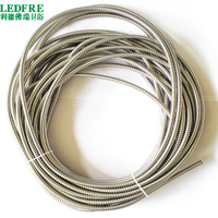 LF14101 inside 6mm x outside 8mm High Quality Single lock 304 Stainless Steel Cable Wire Wrap Tube