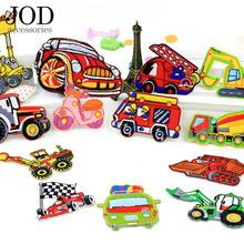 JOD Iron on Brand Patches of Car Applications Badge Applique for Clothes,Child Embroidery Patch Sewing Accessories