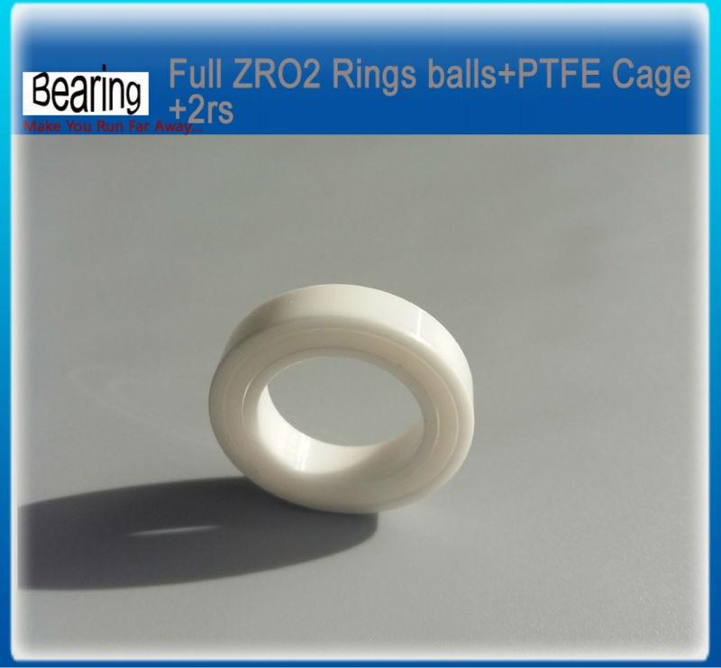 6804-2RS zro2 (20x32x7 mm) hybrid ceramic ball bearing bike axis bearing zro2 balls rings+ptfe cage+2rs 15267 2rs ceramic wheel hub bearing zro2 15267 15 26 7mm full zro2 ceramic bike bearing