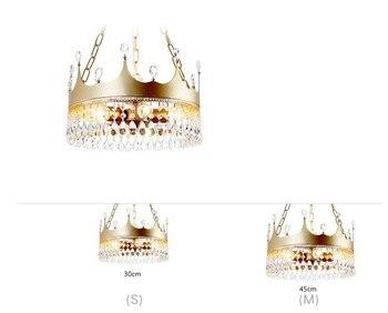 Luz Colgante De Cadena | Nórdicos Chica Corona De Lujo De Cristal Araña Niño Niños Dormitorio Lámpara Colgante Luces Oro Suspensión De Iluminación