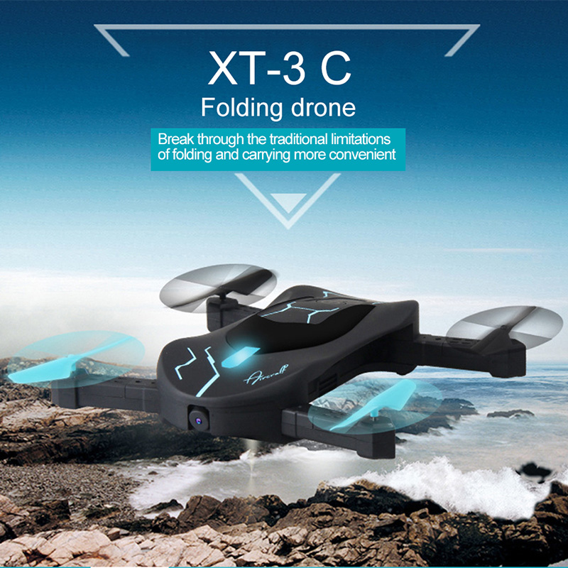 Original Attop XT-3C Folding RC Dron Mini Foldable RC Helicopter Drone With Camera HD 3D Rollover Voice Control Rc Quadcopter