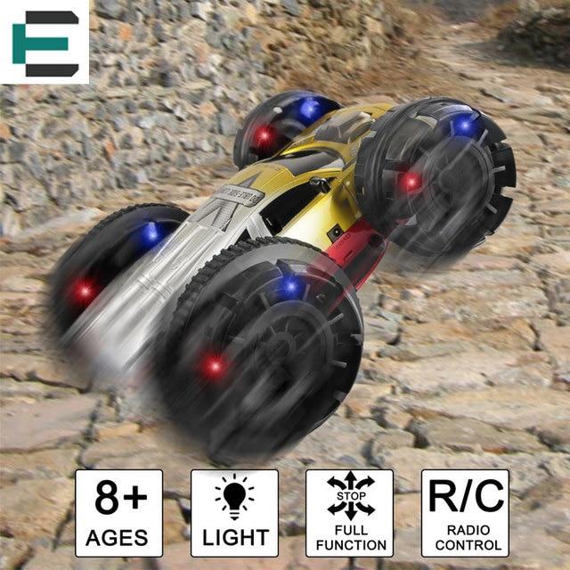 ET 6CH RC Автомобилей Транспорт Двусторонняя Дистанционного Управления Автомобиля 360 Градусов Вращающийся и Сальто Stunt Car USB YE8885
