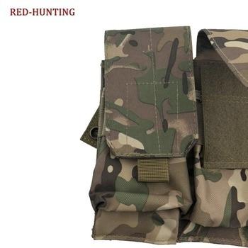 Multicam ซีพียุทธวิธีนิตยสารกระเป๋าแถบไนลอน Triple นิตยสารกระเป๋าซองหนังรอบเอวกระเป๋าสำหรับ M15