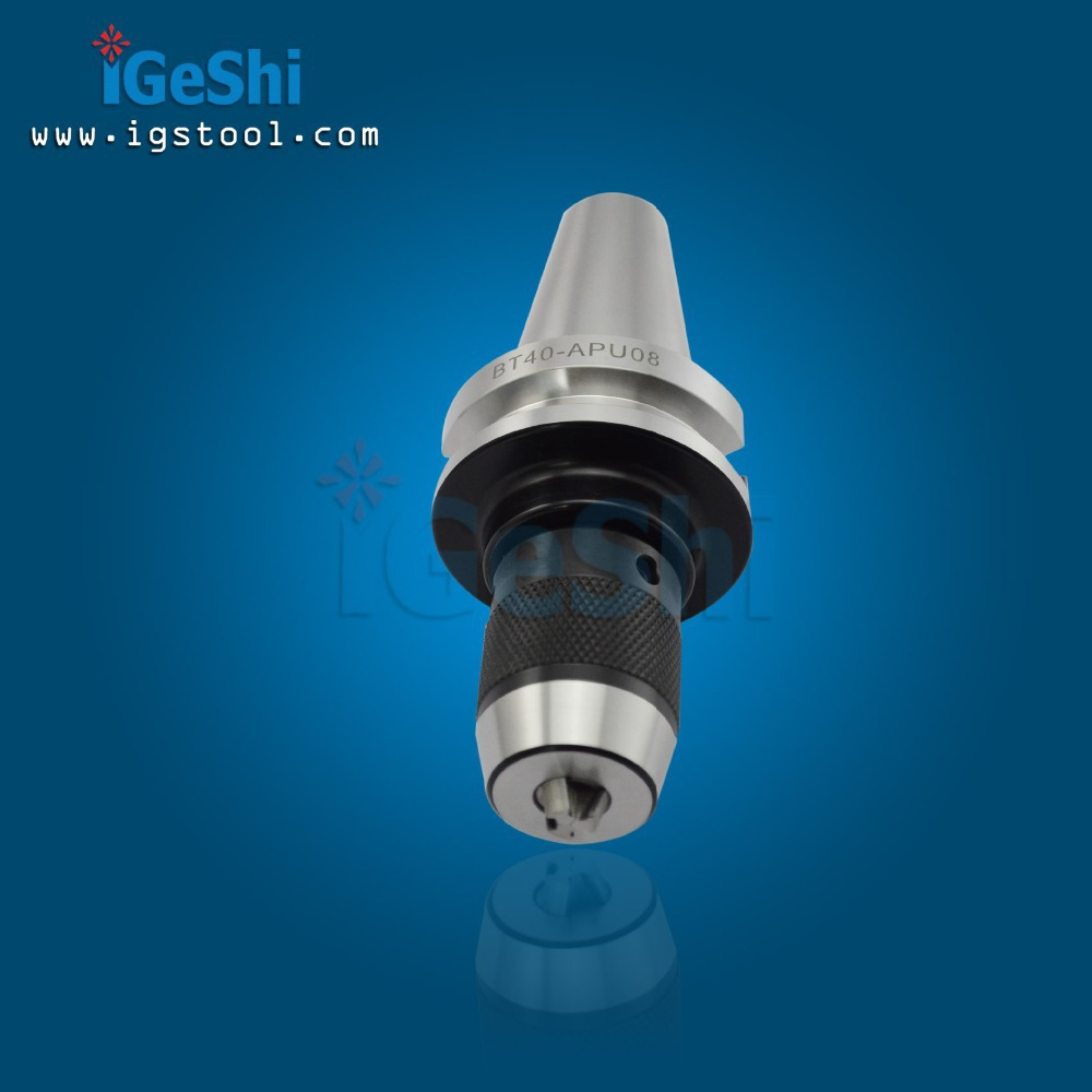 BT30 APU08 Integrated keyless self tight Drill chuck for milling lathe Range:1-08mm cat40 apu16 integrated keyless self tight drill chuck for milling lathe range 1 16mm