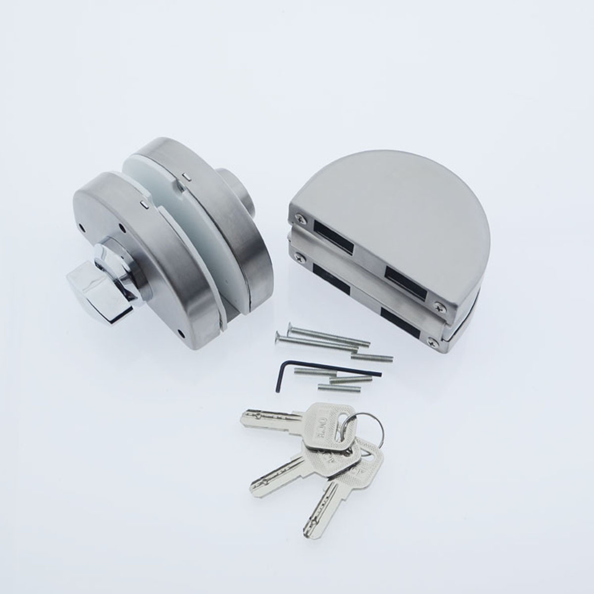 Sliding glass door lock - New 10 12mm Glass Door Lock Stainless Steel Double Bolts Swing Push Sliding Access Control