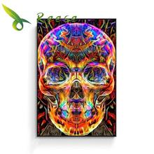 Aliexpress Value Set Diy Full Round Cartoon Diamond Painting Cross Stitch Embroidery Kit Flower Mexican Skull Hobby Mosaic Gift